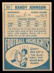 1968 Topps #203  Randy Johnson  Back Thumbnail