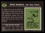 1969 Topps #71  Nick Rassas  Back Thumbnail