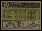 1961 Topps #564  Don Cardwell  Back Thumbnail