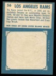 1961 Topps #56   Rams Team Back Thumbnail