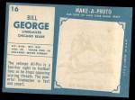 1961 Topps #16  Bill George  Back Thumbnail
