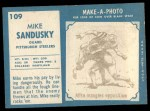 1961 Topps #109  Mike Sandusky  Back Thumbnail