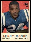 1959 Topps #100  Lenny Moore  Front Thumbnail