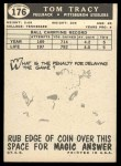 1959 Topps #176  Tom Tracy  Back Thumbnail