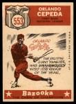 1959 Topps #553   -  Orlando Cepeda All-Star Back Thumbnail