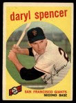1959 Topps #443  Daryl Spencer  Front Thumbnail