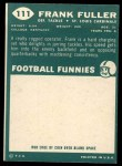 1960 Topps #111  Frank Fuller  Back Thumbnail