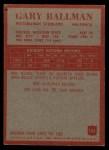 1965 Philadelphia #143  Gary Ballman   Back Thumbnail