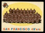 1959 Topps #61   49ers Team Checklist Front Thumbnail