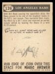 1959 Topps #126   Rams Pennant Back Thumbnail