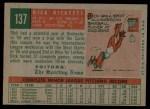 1959 Topps #137  Dick Ricketts  Back Thumbnail