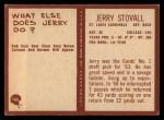 1967 Philadelphia #166  Jerry Stovall  Back Thumbnail
