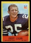 1967 Philadelphia #126  Obert Logan  Front Thumbnail