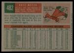 1959 Topps #482  Russ Meyer  Back Thumbnail