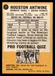 1967 Topps #7  Houston Antwine  Back Thumbnail