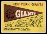 1959 Topps #53   Giants Pennant Front Thumbnail