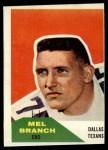 1960 Fleer #100  Mel Branch  Front Thumbnail