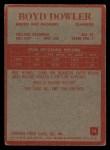 1965 Philadelphia #74  Boyd Dowler   Back Thumbnail