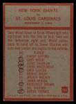 1965 Philadelphia #126   -  Allie Sherman New York Giants Back Thumbnail