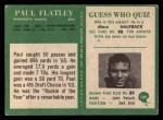 1966 Philadelphia #109  Paul Flatley  Back Thumbnail