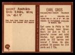 1967 Philadelphia #137  Earl Gros  Back Thumbnail