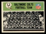 1965 Philadelphia #1   Colts Team Front Thumbnail