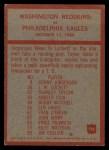 1965 Philadelphia #196   -  Bill McPeak  Washington Redskins Back Thumbnail