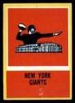 1967 Philadelphia #120   New York Giants Logo Front Thumbnail