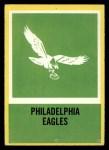 1967 Philadelphia #144    Eagles Logo Front Thumbnail
