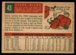 1959 Topps #43  Steve Bilko  Back Thumbnail