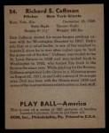 1939 Play Ball #24  Dick Coffman  Back Thumbnail