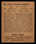 1940 Play Ball #86  Harry Gumpert  Back Thumbnail