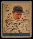 1938 Goudey Heads Up #284  Rudy York  Front Thumbnail