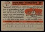 1956 Topps #31  Howard Ferguson  Back Thumbnail