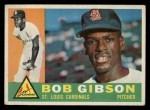1960 Topps #73  Bob Gibson  Front Thumbnail