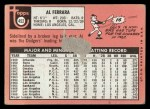 1969 Topps #452 *WN* Al Ferrara  Back Thumbnail