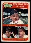 1965 Topps #3   -  Harmon Killebrew / Mickey Mantle / Boog Powell AL HR Leaders Front Thumbnail