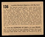 1938 Gum Inc. Horrors of War #136   Loyalists Bombard Algeciras with Big Guns Back Thumbnail