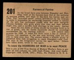 1938 Gum Inc. Horrors of War #201   Farmers of Famine Back Thumbnail