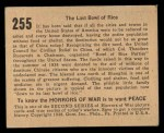 1938 Gum Inc. Horrors of War #255   The Last Bowl of Rice Back Thumbnail