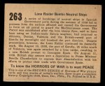 1938 Gum Inc. Horrors of War #263   Lone Raider Bombs Neutral Ships Back Thumbnail