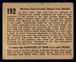 1938 Gum Inc. Horrors of War #192   Machine Guns Protect Itallians from Bandits Back Thumbnail