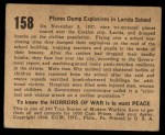1938 Gum Inc. Horrors of War #158   Planes Dump Explosives in Lerida School Back Thumbnail