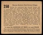 1938 Gum Inc. Horrors of War #250   Russian Bombers Raid Korean Villages Back Thumbnail