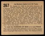 1938 Gum Inc. Horrors of War #267   Jap Bombers Ignite U.S. Oil Tanks Back Thumbnail
