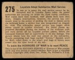 1938 Gum Inc. Horrors of War #275   Loyalists Adopt Submarine Mail Service Back Thumbnail
