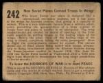 1938 Gum Inc. Horrors of War #242   New Soviet Planes Conceal Troops in Wings Back Thumbnail