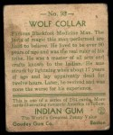 1933 Goudey Indian Gum #93   Wolf Collar  Back Thumbnail