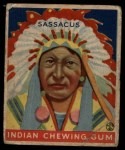 1933 Goudey Indian Gum #102   Sassacus  Front Thumbnail