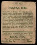 1933 Goudey Indian Gum #82   Huichol Tribe  Back Thumbnail